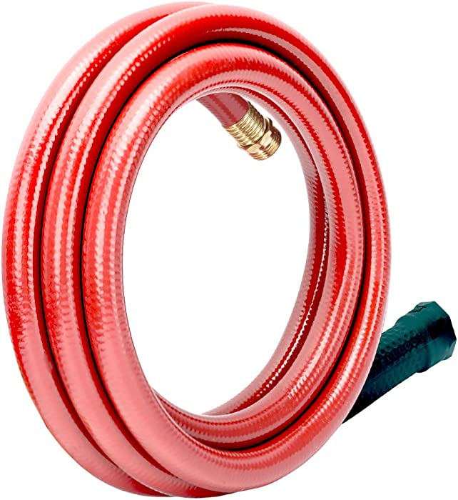 Solution4Patio Homes Garden 5/8 in. x 10 ft. Short Hose Male/Female Lead-Hose, No Leaking, High Water Pressure Solid Brass Fitting for Water Softener,Dehumidifier,Vehicle Water Filter 12 Year Warranty