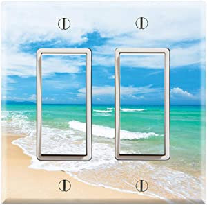 Graphics Wallplates - Crystal Clear Water Beach- Double Rocker/GFCI Wall Plate Cover