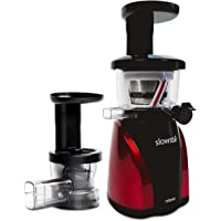 Tribest Slowstar Vertical Slow Juicer and Mincer SW-2020, Cold Press Masticating Juice Extractor in Silver and Black (SW-2020)