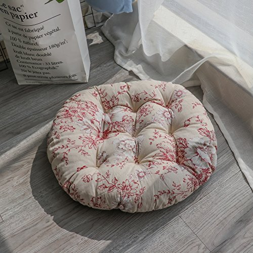 XMZDDZ Tatami mats Seat Cushion,Indoor Outdoor deep seat Chair Cushion Garden Office Car Round Chair pad-O 50x50cm 20x20inch