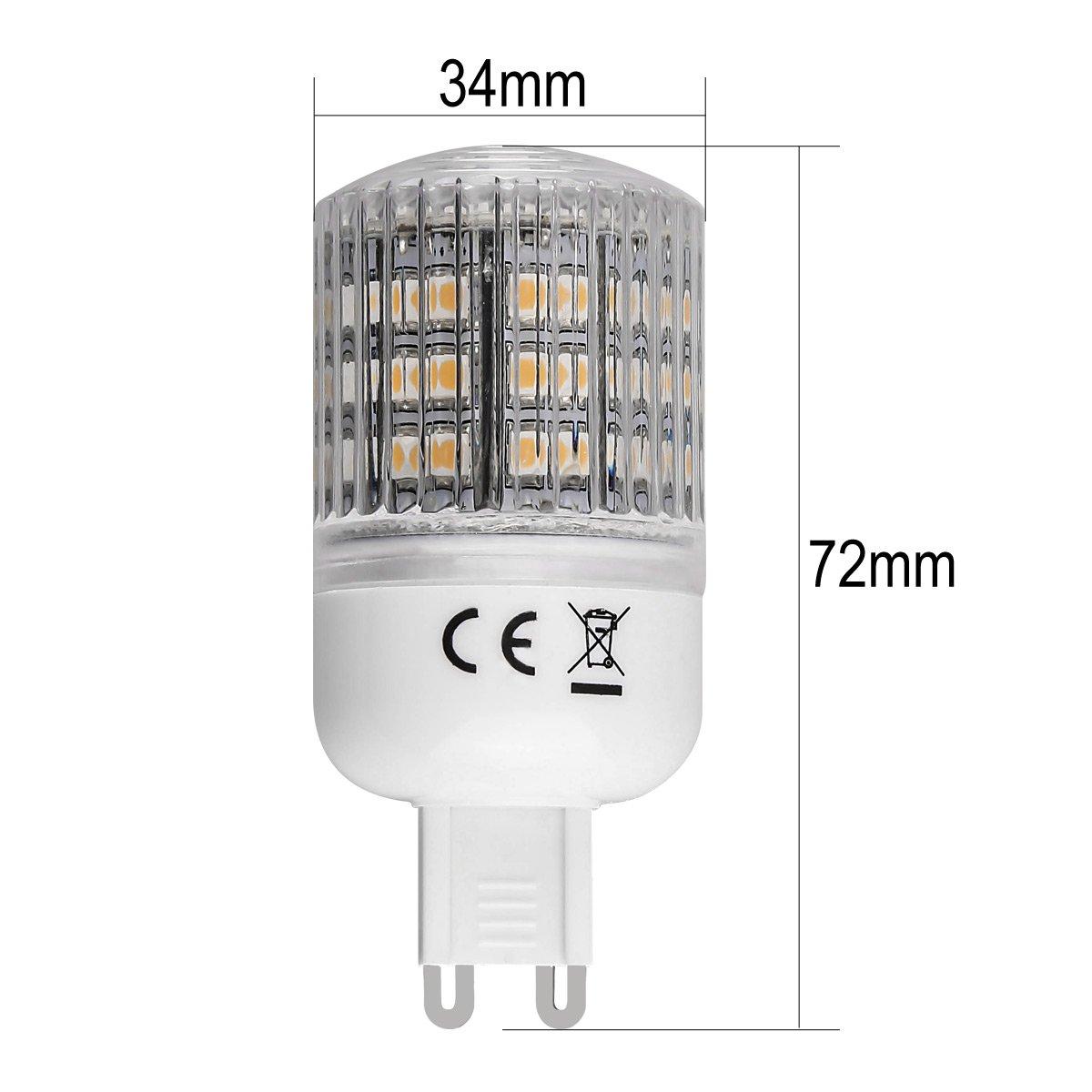 Lighting EVER® Bombilla LED G9, Equivalente a una Bombilla Halógena de 30W, Blanco Cálido: Amazon.es: Electrónica