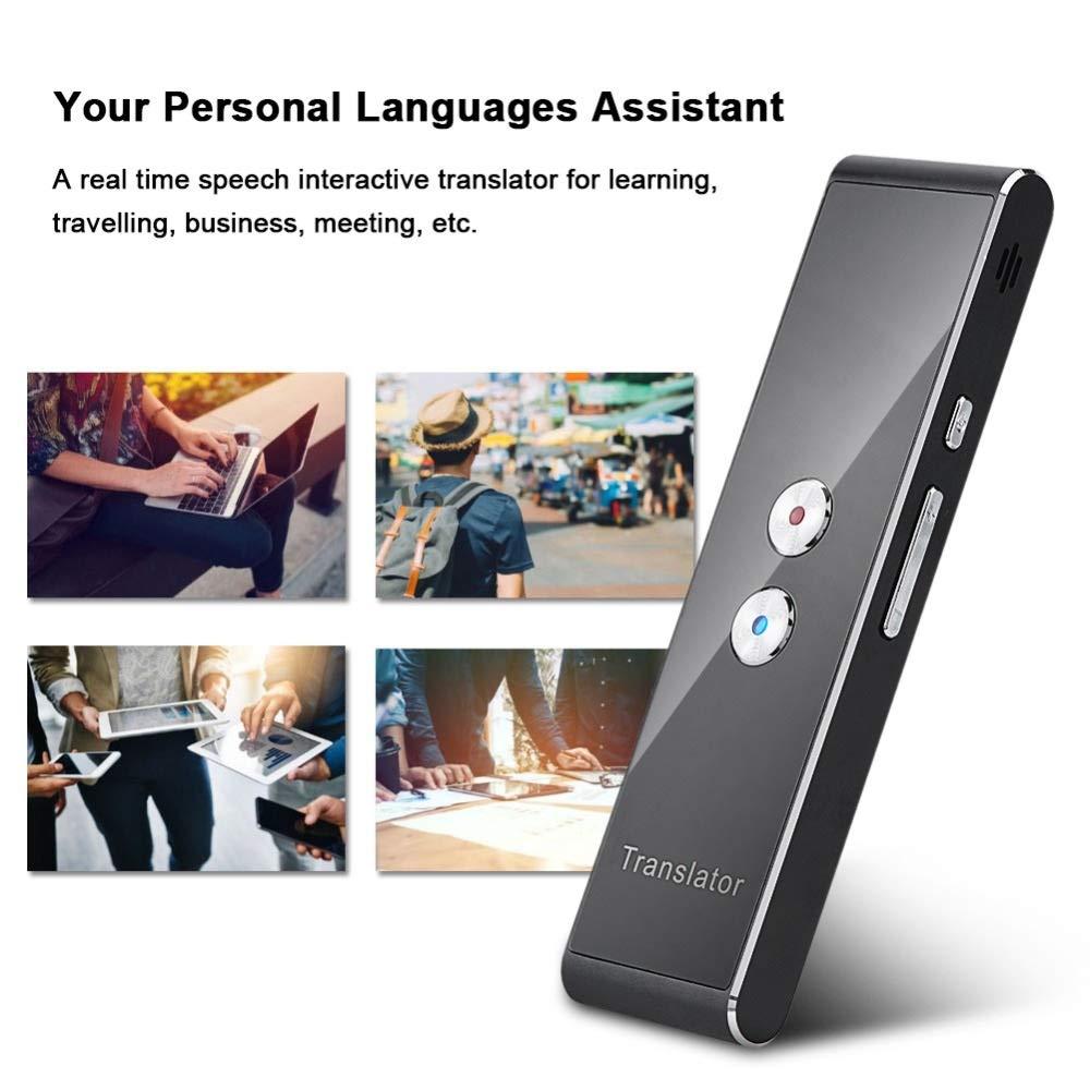 Traducteur Vocale Instantan/ée Prise en charge de lappareil Smart Voice Translator Traducteur instantan/é bidirectionnel en 40 langues for lapprentissage ,Affaires ,Chat ,Voyages /à l/étranger
