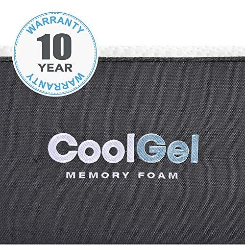 Classic Brands Cool Gel Ventilated Memory Foam 10-Inch Mattress | CertiPUR-US Certified | Bed-in-a-Box, Twin XL