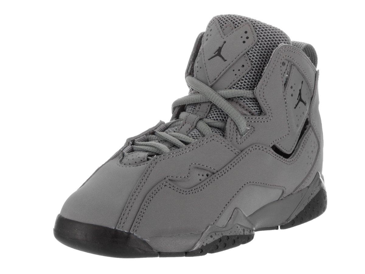 Jordan Nike Kids True Flight Bp Cool Grey/Black Basketball Shoe 2 Kids US