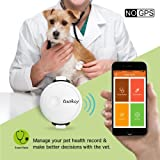 Tuokiy Pet Fitness Tracker - Thin and Lightweight Pet Activity Monitor for Dogs & Cats - Mood Detection(NO GPS)