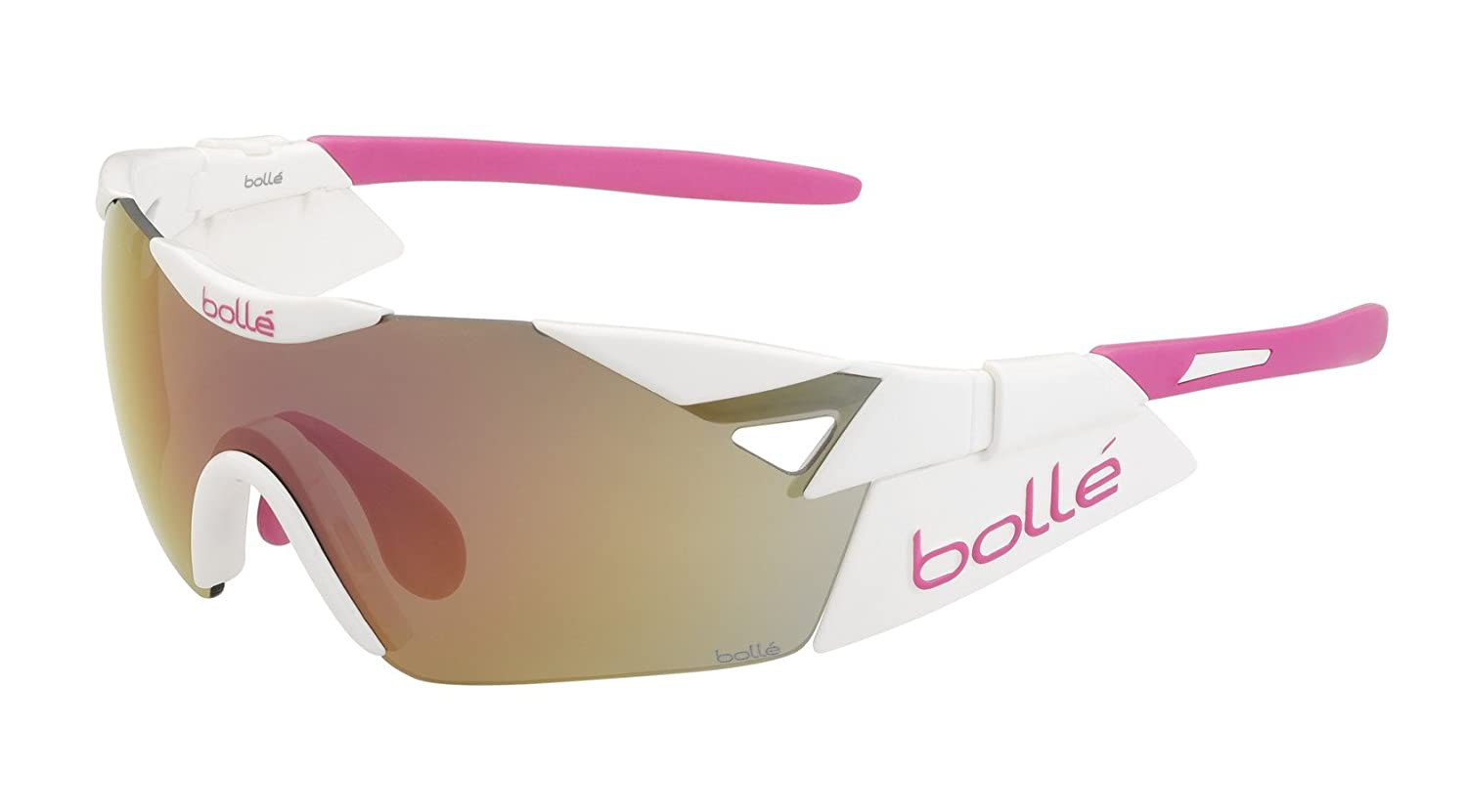 bolle(ボレー) サングラス 11913 6th Sense-S Shiny White Pink/Rose Gold oleo AF   B00W6NLDPU