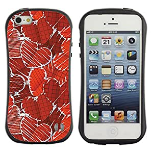 Be-Star Impreso Colorido Diseño Antichoque Caso Del iFace Primera Clase Tpu Carcasa Funda Case Cubierta Par Apple iPhone 5 / iPhone 5S ( Paper Heart Pattern )