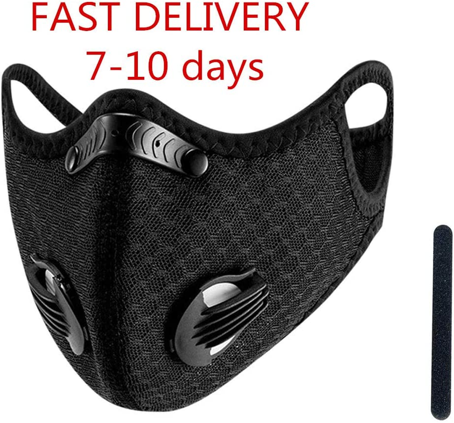 Adults Washable Face Bandanas with Breathing Valve and 1PC Nose Bridge Breathable Reusable for Outdoor Occasion
