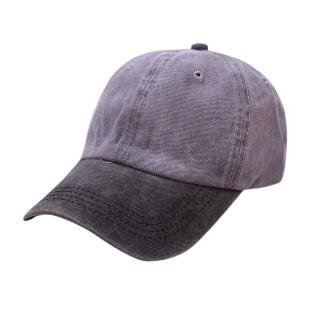 Tanlo 2019 Women Men Unisex Summer Outdoors Denim Visor Baseball Cap Adjustable Hat (Dark Gray, One Size)