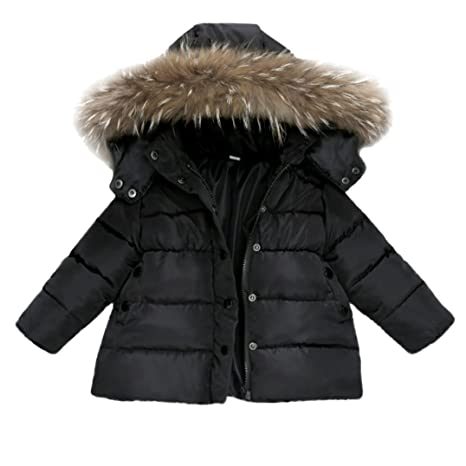 Abrigos para 0 – 3 AñOS Baby, janly algodón plumífero para niño niña con capucha