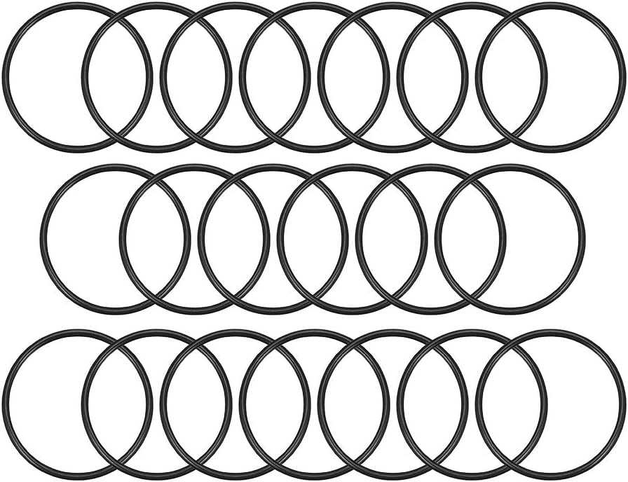 paquete de 20 junta de sello redondo di/ámetro interior de 43,2 mm Sourcingmap juntas t/óricas de goma de nitrilo ancho de 2,4 mm di/ámetro exterior de 48 mm