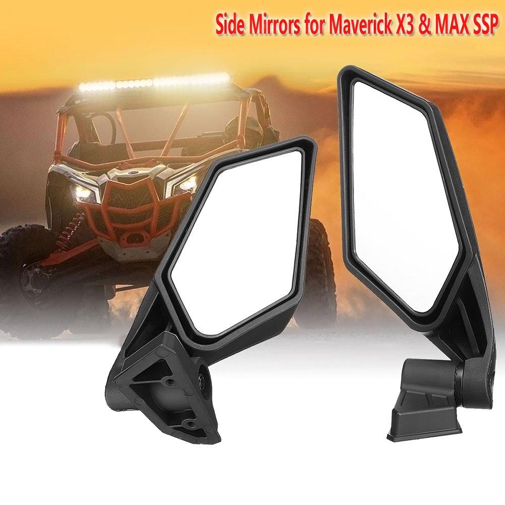 Motobiker 1Pair Rear View Race Mirrors for Can Am Maverick X3 2017 2018 For Suzuki Quadracer 450 2006-2009