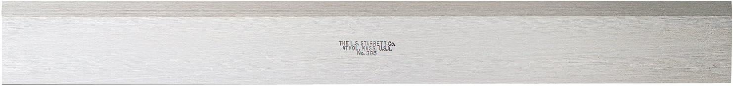 11//64 Thickness Starrett 385-12 Steel Straight Edge With Bevel 12 Length 1-13//32 Width