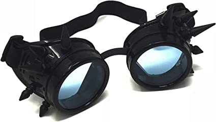 Rave Glasses 3D Prism EDM Rainbow Kaleidoscope Diffraction Spiked Steampunk Goggles