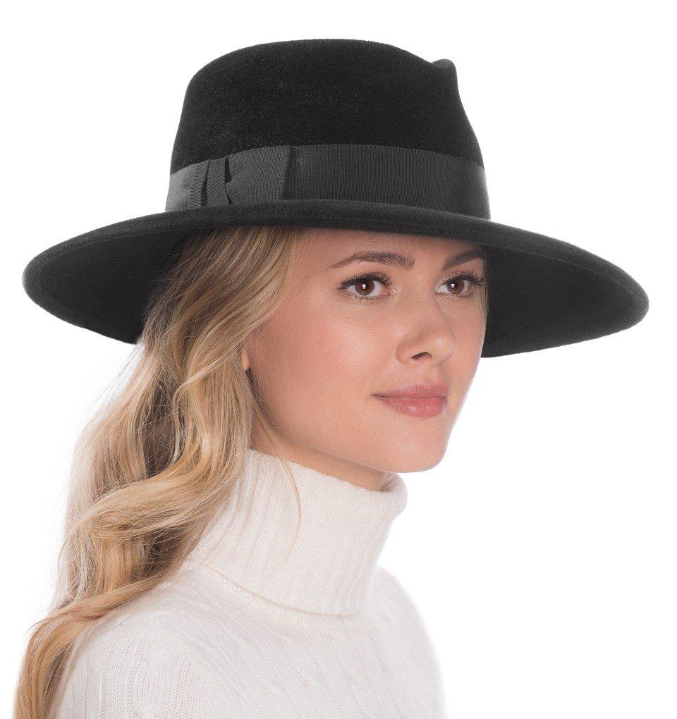 Eric Javits Luxury Fashion Designer Women's Headwear Hat - Zora - Black