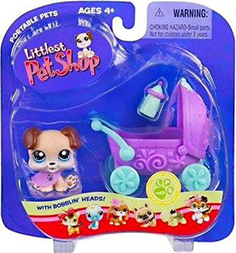 Littlest Pet Shop Pets on the Go Puppy with Baby Carriage