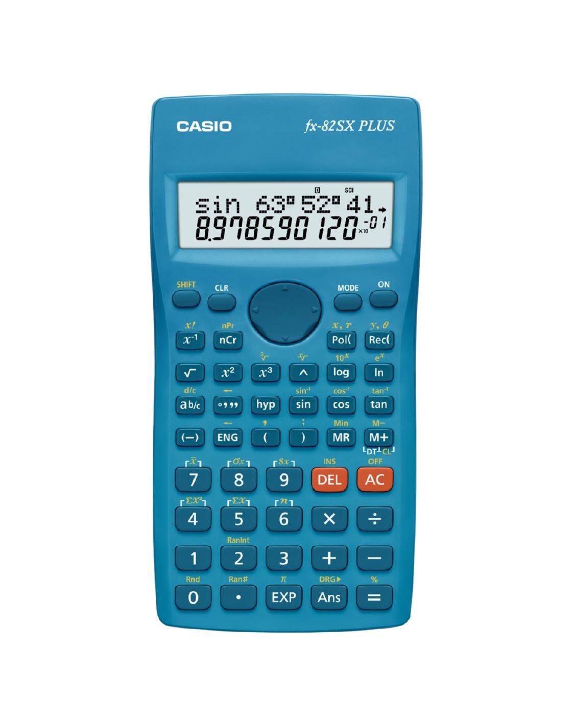 Casio FX-82SX Plus - Calculadora, 19.5 x 78 x 155 mm, azul: Amazon ...