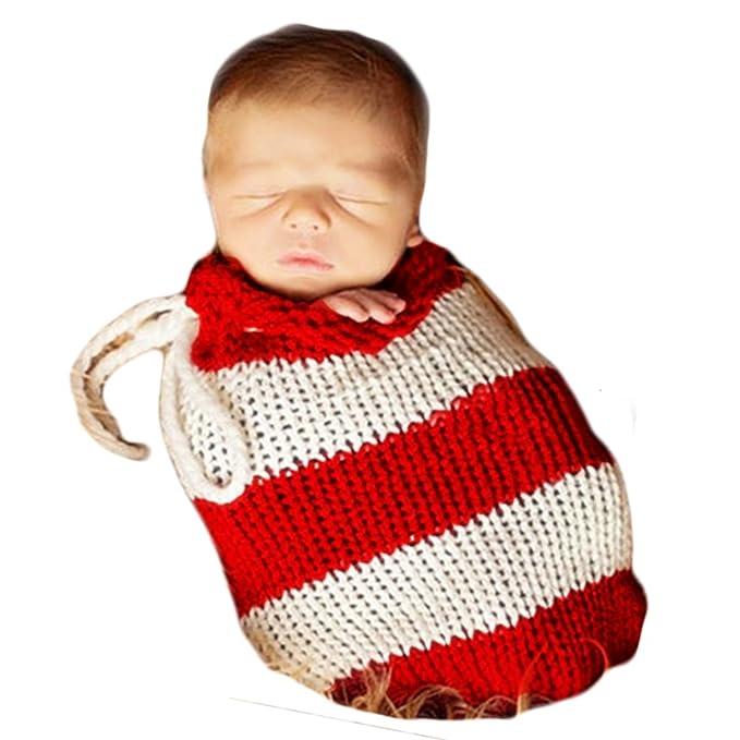 Tejer a mano Recién nacido Chico Niña Conjuntos Bebé Fotografía Accesorios Tejer Sacos de dormir: Amazon.es: Ropa y accesorios
