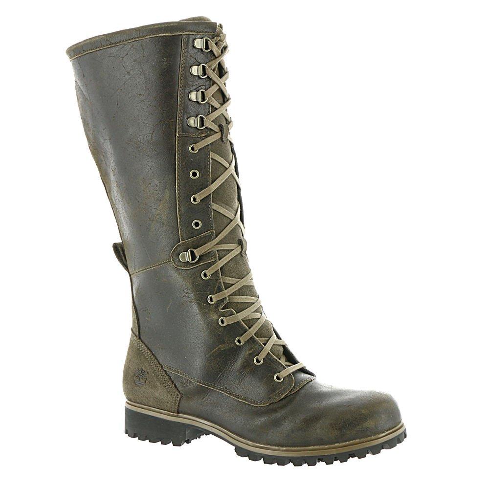 740733f8b6d Timberland Women's Wheelwright Tall Lace Waterproof Boot, Dark Brown ...