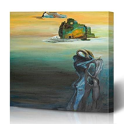 Amazon Com Ahawoso Canvas Prints Wall Art 16x16 Inches