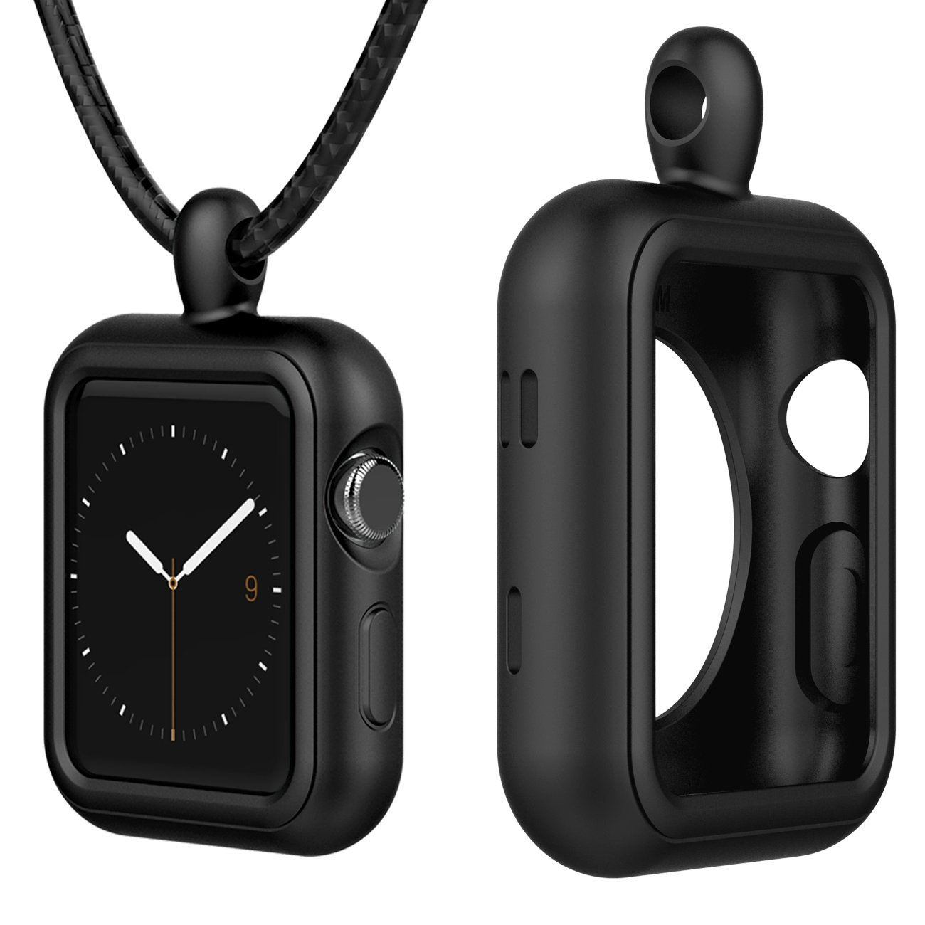 Lwsengme Compatible with Apple Watch Pendent Case with Necklace Clip, Replacement Accessories Compatible with Apple iWatch Series 3/2/ 1/Nike+ 38mm,42mm