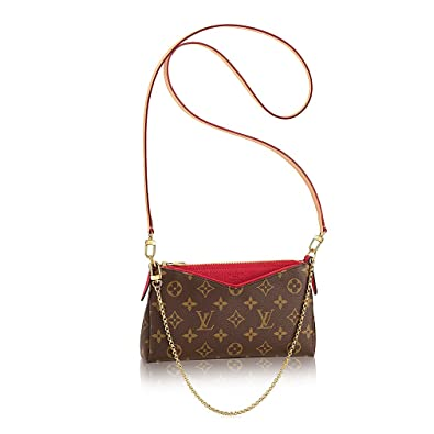 cf90ce33187c Authentic Louis Vuitton Monogram Canvas Pallas Clutch Handbag Cherry  Article  M41638 Made in France  Handbags  Amazon.com