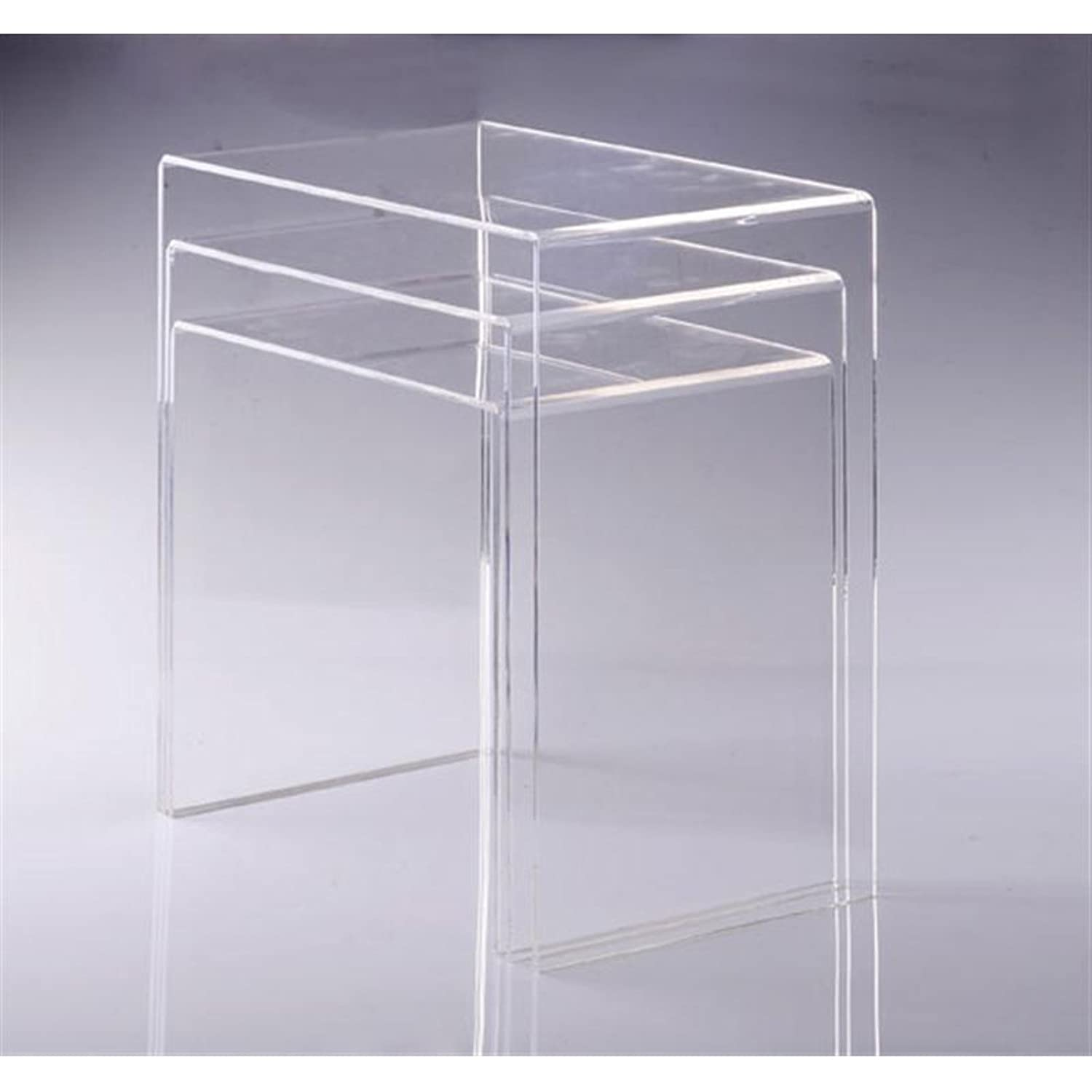 Amazon.com: HomCom 3pc Acrylic Stackable Nesting End Side Tables   Clear:  Kitchen U0026 Dining Part 50