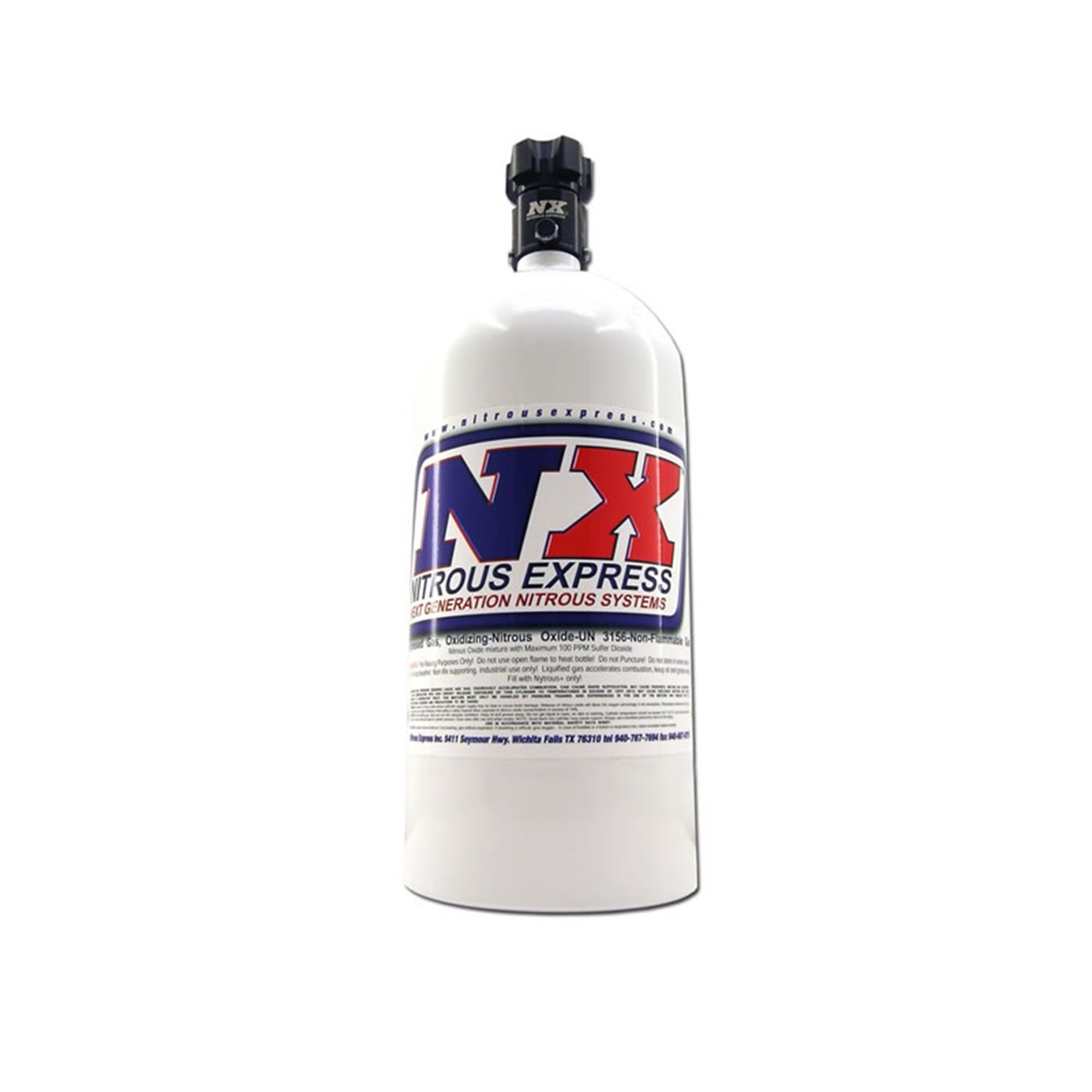 Nitrous Express 11050 Nitrous Bottle with Standard L45 Valve - 5 lbs.