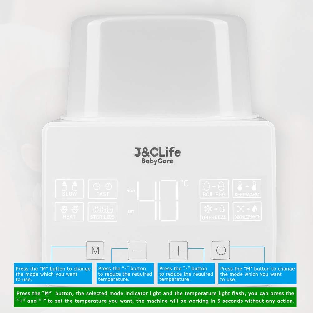 Amazon.com: J&C Life, Esterilizador de botellas, calentador ...