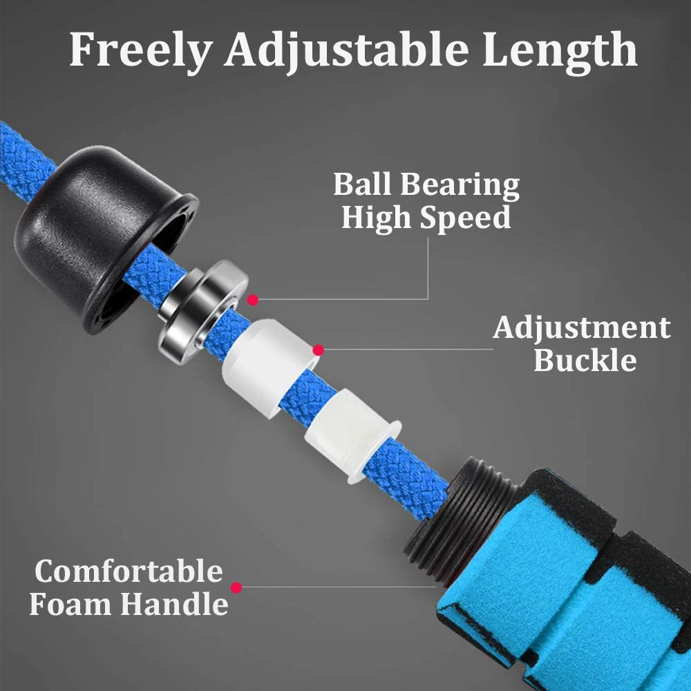 Weighted Jump Rope Workout Heavy Skipping Jumping Rope 1LB Weight for Fitness Men Women Speed Bearing Graffiti Foam Handle for Gym Home Exercise Cardio Crossfit Boxing MMA Training