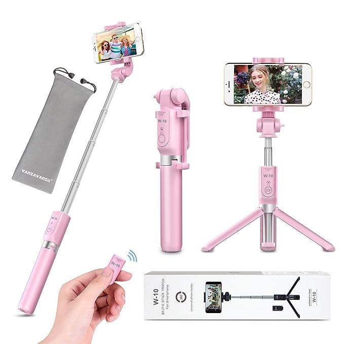 premium selection 9c38a 2f333 Selfie Stick - VANZAVANZU Extendable Selfie Stick Phone Tripod Monopod  Detachable Bluetooth Wireless Remote Shutter for iPhone x xr xs max 6 6s 7  8 ...