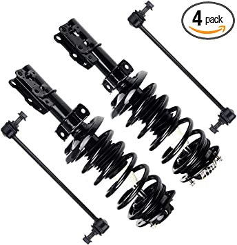 Front Struts Assemblies /& Sway Bar End Links Kit For Ford Mustang 2005-2010