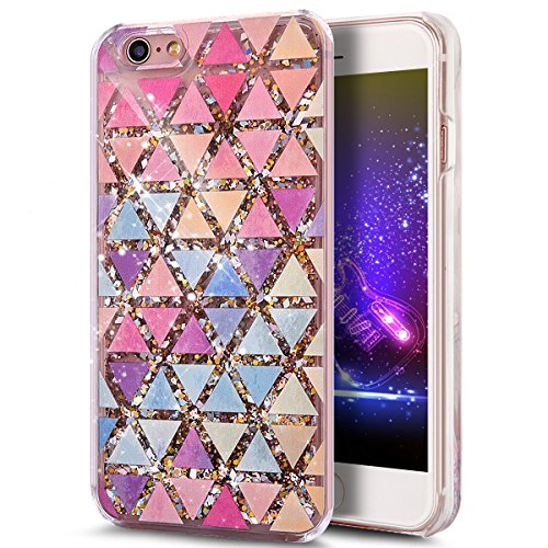 iPhone 6S Plus Case,iPhone 6 Plus Case,ikasus iPhone 6S/6 Plus [Liquid Glitter] Case,Flowing Liquid Quicksand Bling Glitter Sparkle Diamond Clear Hard Case for iPhone 6S/6 Plus 5.5,Colorful Diamond #1