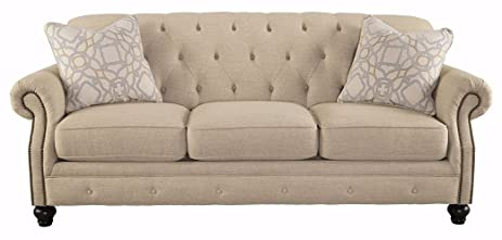 Ashley Furniture Signature Design - Kieran Sofa - Traditional Style Couch -  Natural Tan