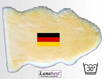 LANABEST Baby Lammfell ca.70cm. Premium Qualität, schadstoffarm. Medizinisch gegerbt, hergestellt in Deutschland. 30°C waschb