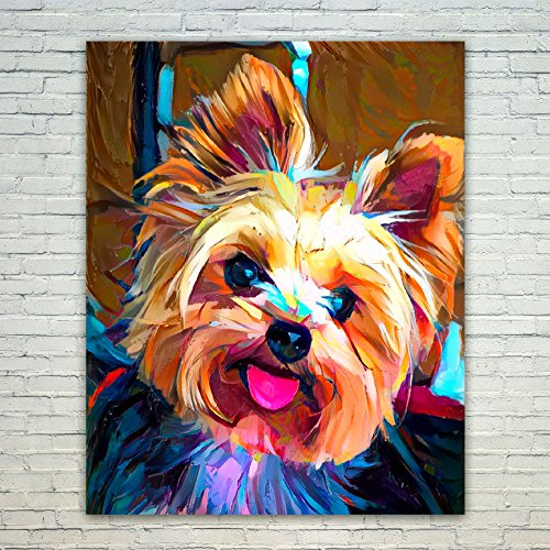 Pictures Yorkie (Westlake Art - Poster Print Wall Art - Dogs Yorkie - Modern Abstract Artwork Home Decor Office Birthday Gift - Unframed - 16x20in (od9 fe0 cf6))