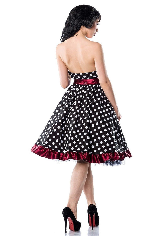 Atixo Vintage Bandeau Dress The 50S Style Rockabilly Dress Black / Knows Gr. 3 Xl