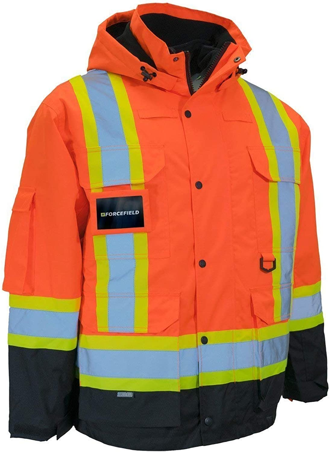 NOROZE Reflective Puffer Jacket Cropped Hi-Vis Padded Quilted Coat