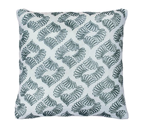 Beautyrest Arlee Beaded Decorative Pillow, 16 x 16, Spa