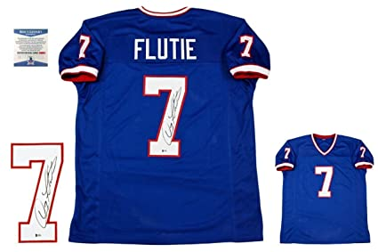 cheap for discount cb414 c4b36 Autographed Doug Flutie Jersey - Beckett Pro Style Royal ...