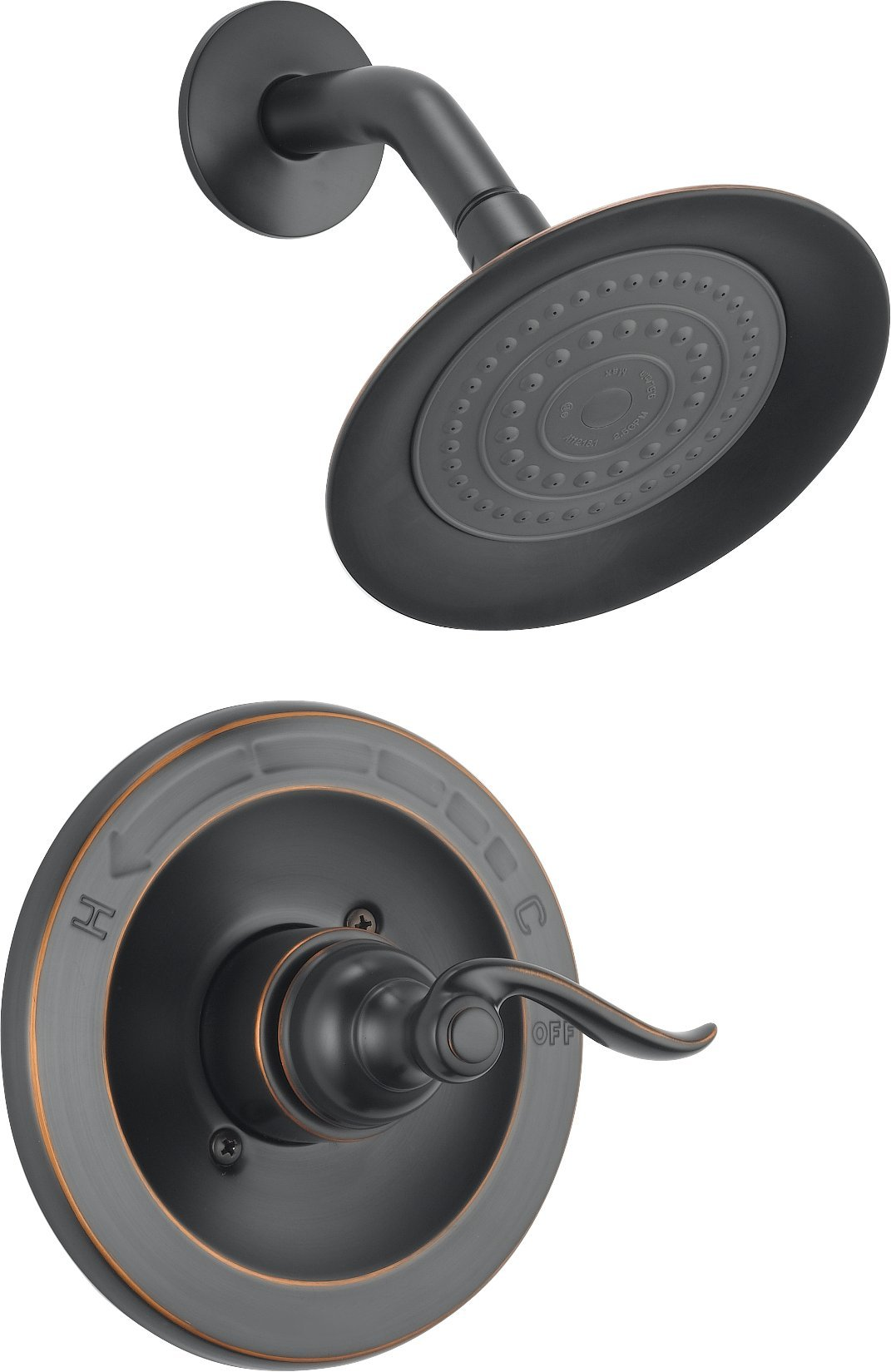 Delta Windemere Single-Function Shower Trim Kit with Single-Spray Shower Head, Oil Rubbed Bronze BT14296-OB (Valve Not Included)