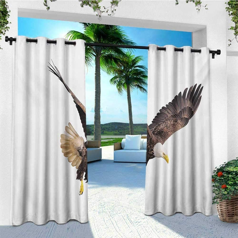 leinuoyi Eagle, arandela de Cortina para Exteriores, Elementos de Cultura Africana en la Cabeza del Enorme Estilo de Dibujo de Aves Cazadoras, Tela por The Yard: Amazon.es: Jardín