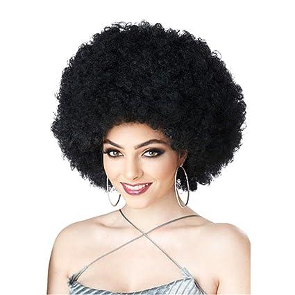 Espeedy Pelucas de Halloween,34 africano negro mujer corta rizada peluca sintéticas cabello señoras niñas