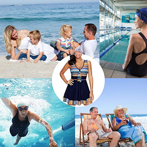 57d94df0fceea AMAGGIGO Amenxi Ladies Polka Bikini Dress Plus Size Swimwear Retro ...