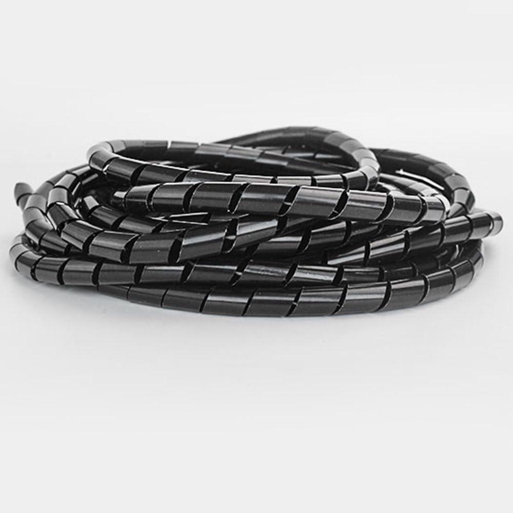 Godagoda Cable Protection Cable de Fils Cable Spirale de Ligne de Charge Gaine Noir Blanc Rangement Pas Nouer Enrouler