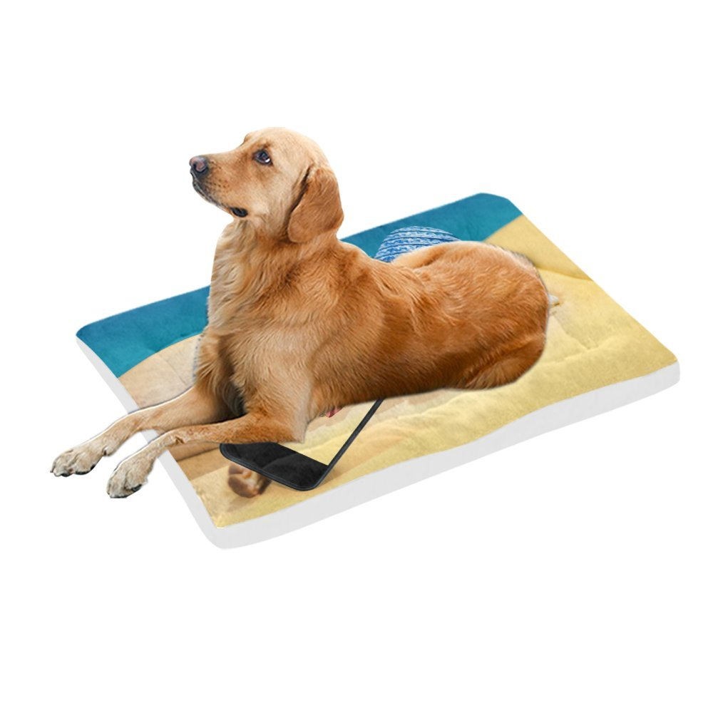 42\ your-fantasia Drunk Dog Taking a Selfie with Smartphone Pet Bed Dog Bed Pet Pad 42 x 26 inches