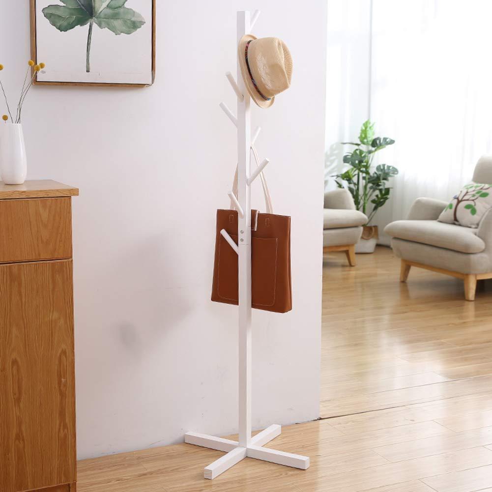 T 50x50x165cm Has Coat Stand Wood Stand Coat Hanger Tree-Shaped Coat Rack Hanger Has Coat Stand for Clothes, Has, Bag-Y 45x45x175cm