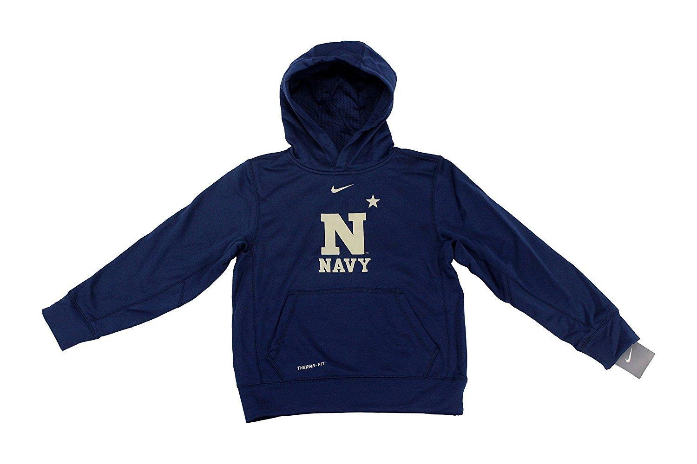 Nike NCAA Jungen Marineakademie Navy Therma Fit Hoodie klein