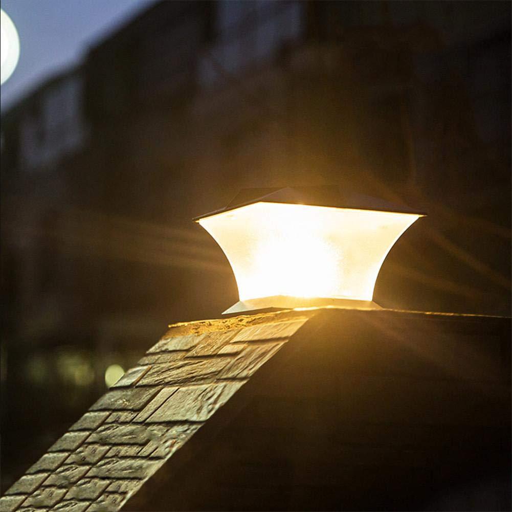 Gorgebuy Phare de Colonne Solaire Phare de la Cour de la Villa de la Cour de la Villa Lumi/ère Blanche; Lumi/ère Orange Pilier Super Lumineux