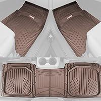 $37 » Motor Trend FlexTough Plus Brown Rubber Car Floor Mats – All Weather Deep Dish Automotive…